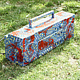 Painted boom box by Ron Crowcroft