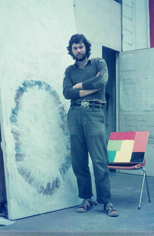 With two paintings, 1974 by Ron Crowcroft