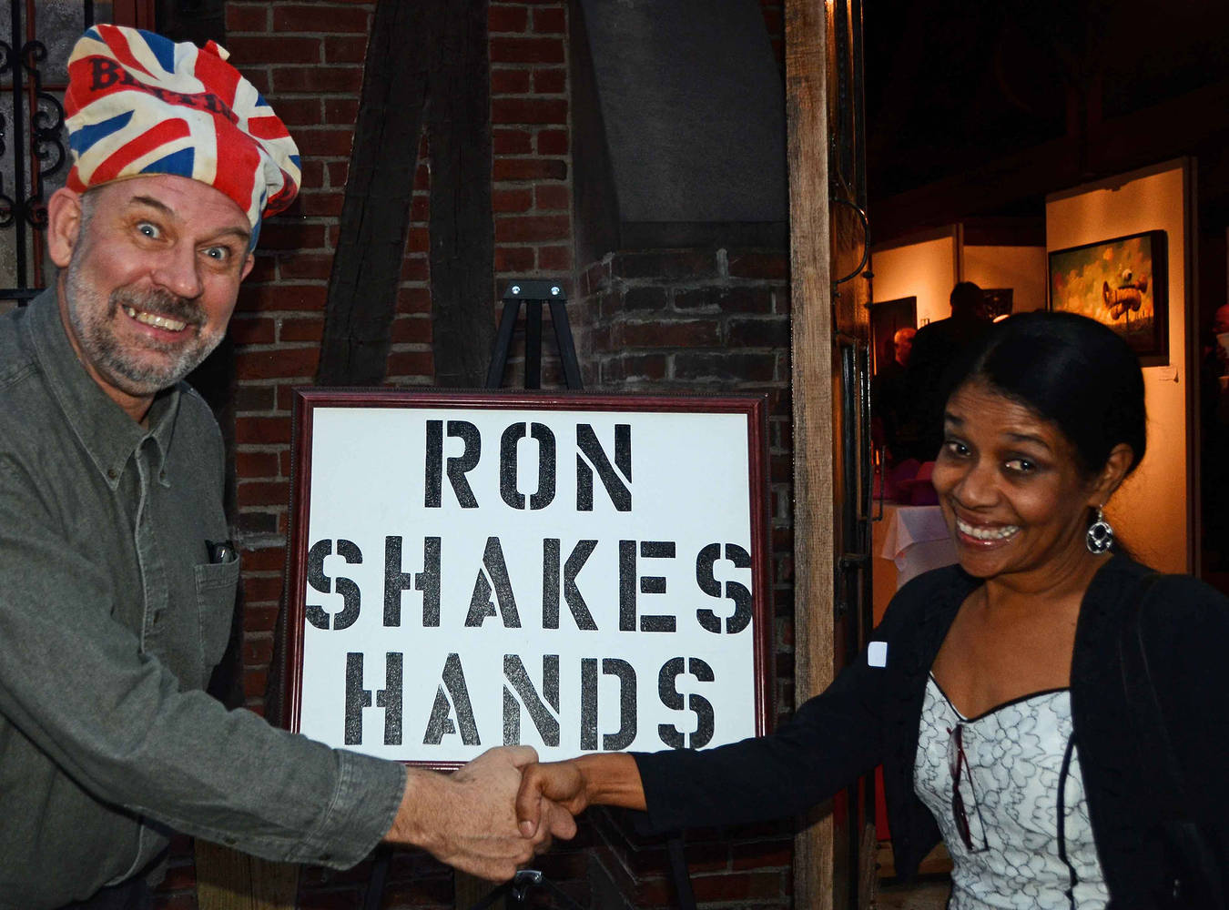 Ron Shakes Hands by Ron Crowcroft