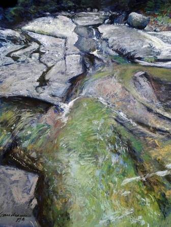 Painting The Emerald Pool- Phelps Brook  by Michael  Gaudreau