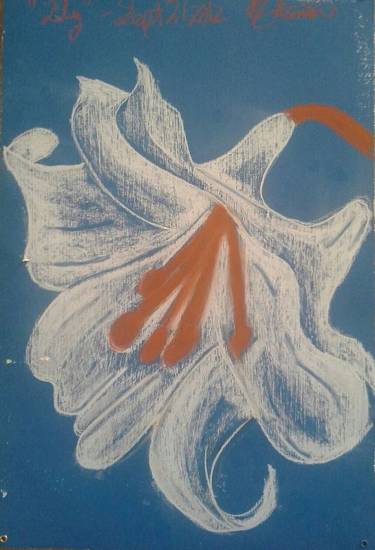 Acrylic painting Lily  by Matt Kantor