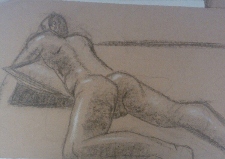Drawing Study of the Human Body - Life Drawing 7 by Matt Kantor