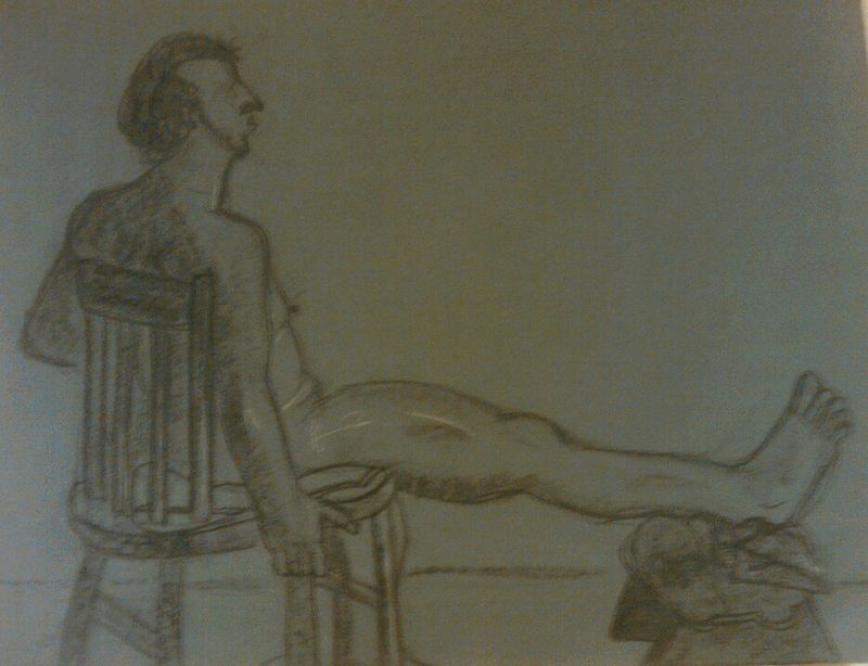 Drawing Study of the Human Body - Life Drawing 4 by Matt Kantor