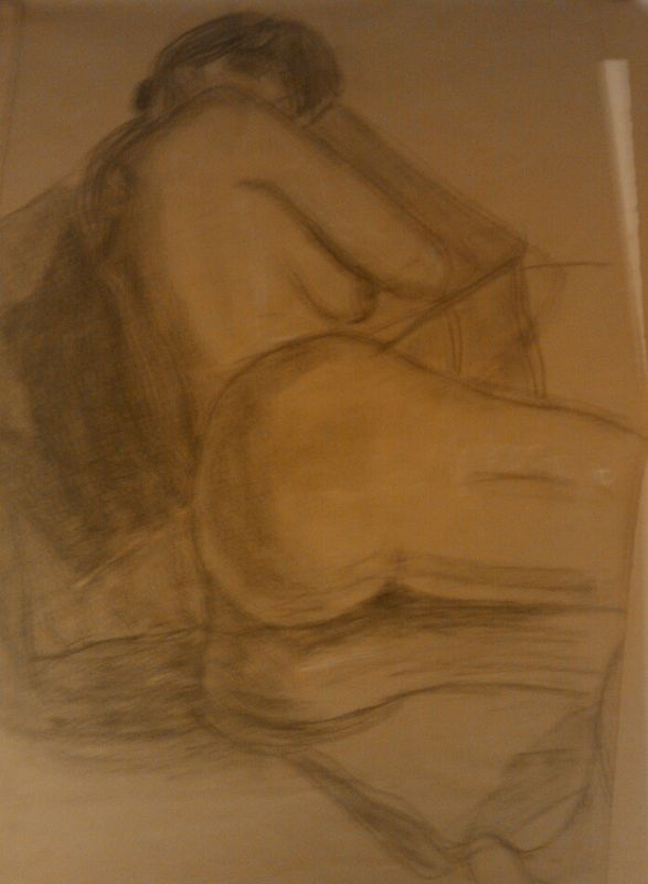 Drawing Study of the Human Body - Life Drawing by Matt Kantor
