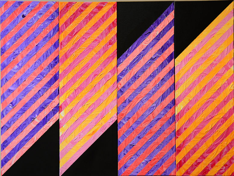 Acrylic painting CANDY - Acrylic on canvas - set of four panels can be arranged in several ways. See images that follow by Reed Dixon