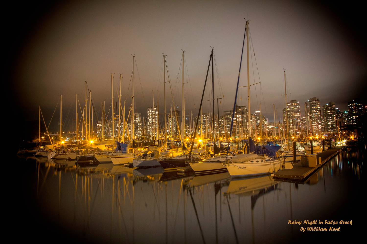 Rainy Night in False Creek by William Kent
