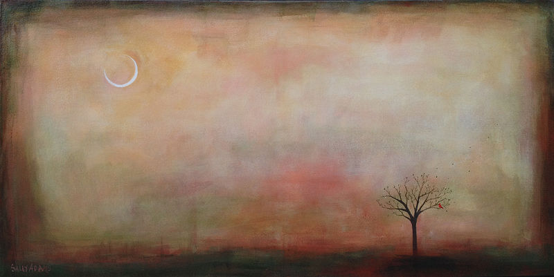 Acrylic painting Day is Dawning by Sally Adams