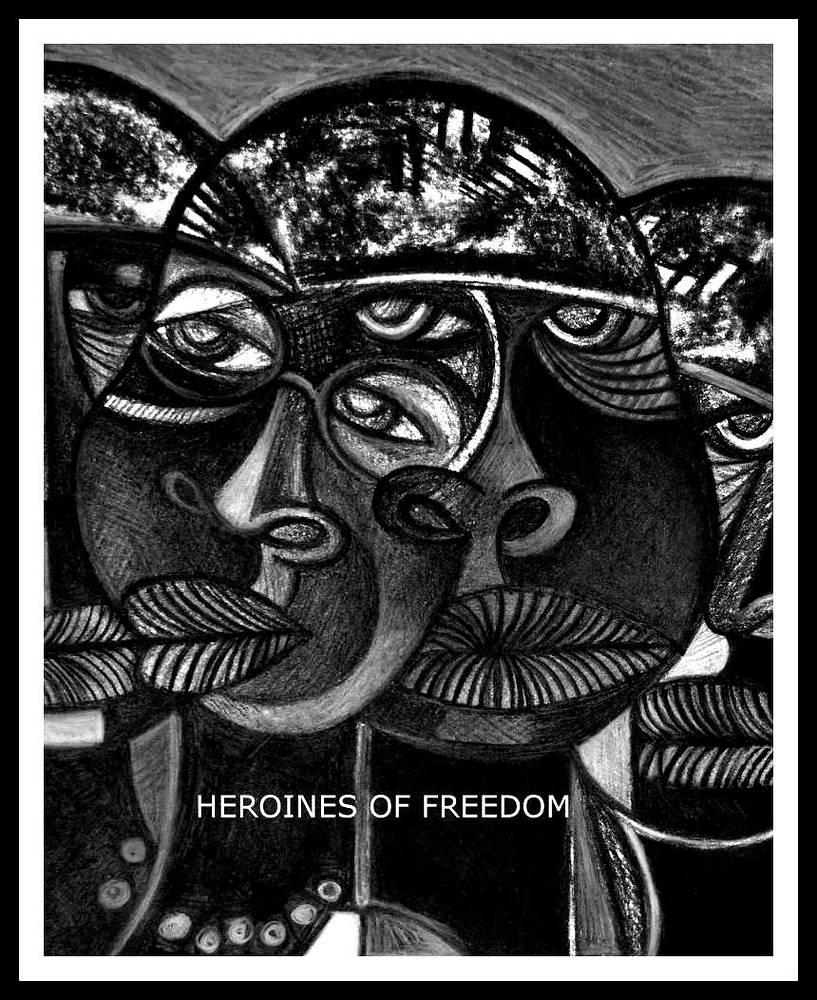 Mixed-media artwork HEROINES OF FREEDOM - circa 2012 by Michael Kilgore