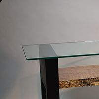 Oil painting Western Curly Maple / Wenge Console Table by Enrique Morales