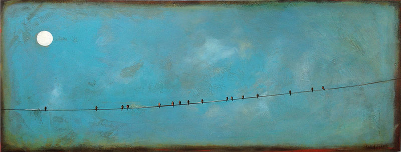 Acrylic painting Party Line by Sally Adams