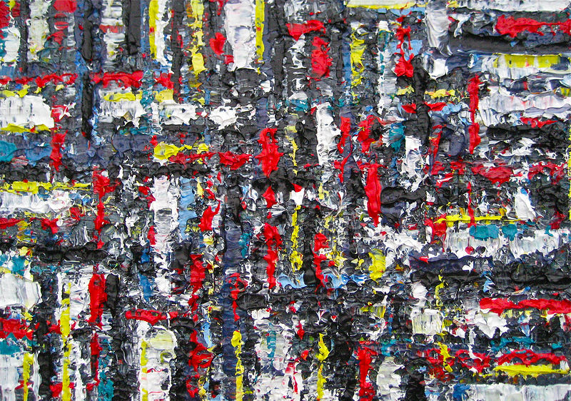 Acrylic painting Urban Rhythms #14  by David Tycho