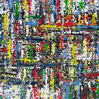Acrylic painting Urban Rhythms #12  by David Tycho