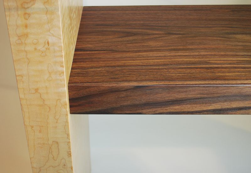 Oil painting Figured Maple-Black Walnut Console Table Detail-2 by Enrique Morales