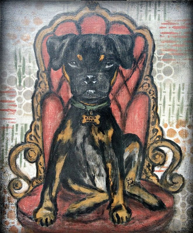 Acrylic painting King Max by Carly Jaye Smith