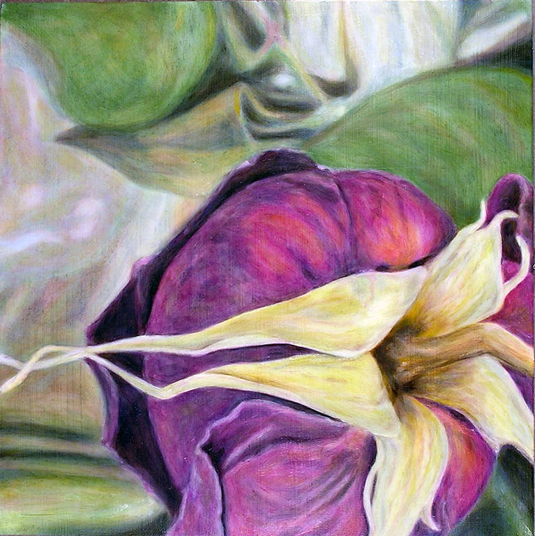 Oil painting Sleeping Rose (2004) by Maria Z Madacky