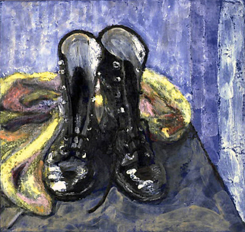 Shoes in Blue (2003) by Maria Z Madacky