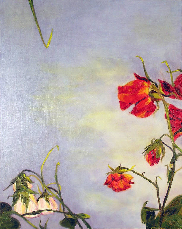 Oil painting Wild Roses (2004) by Maria Z Madacky