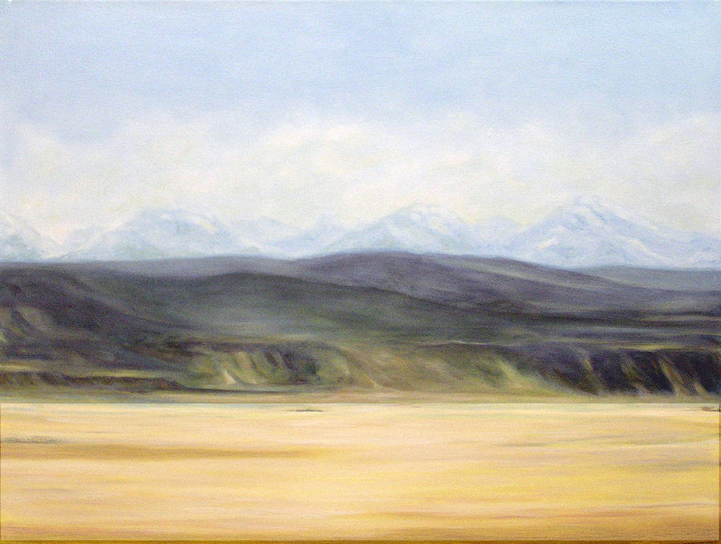 Oil painting Porcupine Hills (2005) by Maria Z Madacky