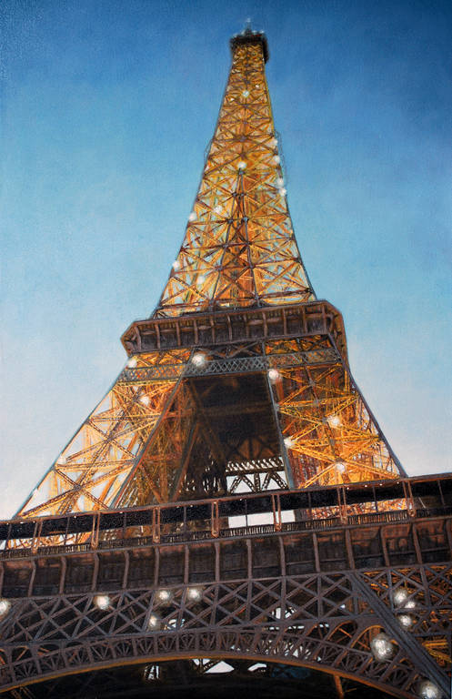 Oil painting Paris (2009) by Maria Z Madacky