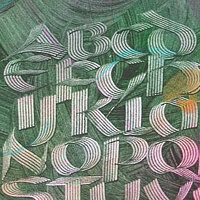 Drawing Uncial Alphabet  by Michele Barnes