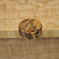 Oil painting Small Figured Maple Jewelry Box #3 Detail-3 by Enrique Morales