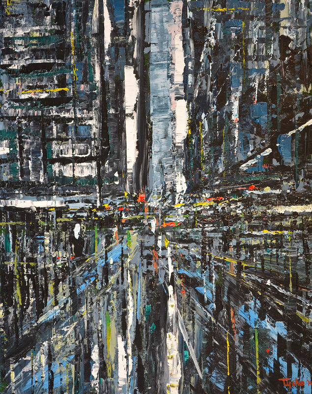 Acrylic painting Urban Rhapsody #1  by David Tycho
