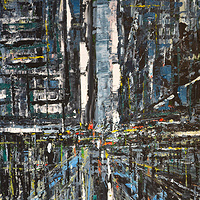 Acrylic painting Urban Rhapsody No. 1  by David Tycho