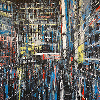 Acrylic painting Urban Rhapsody No. 3  by David Tycho