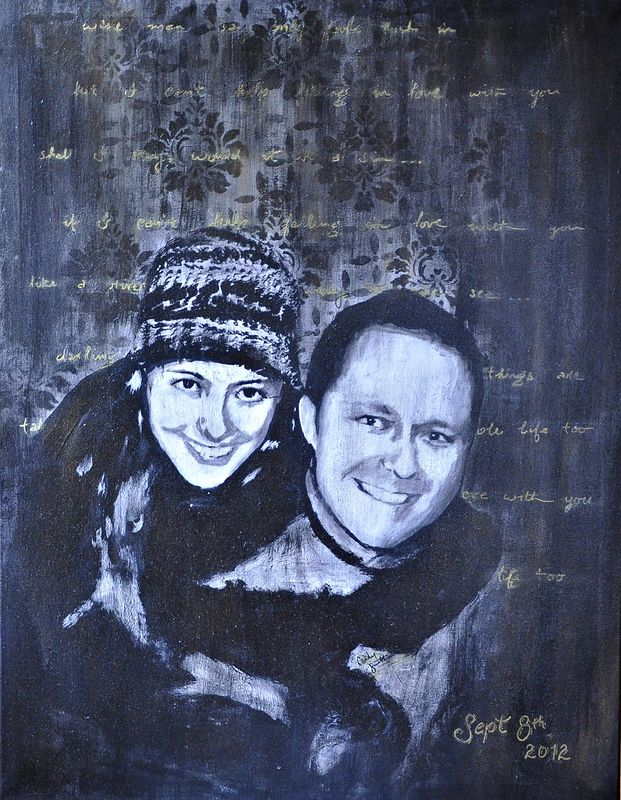 Acrylic painting Mike & Jillian by Carly Jaye Smith