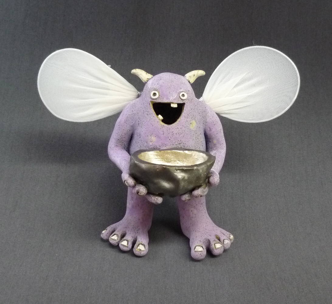 Painting Monster - Tooth Fairy Helper Purple by Leanne Schnepp