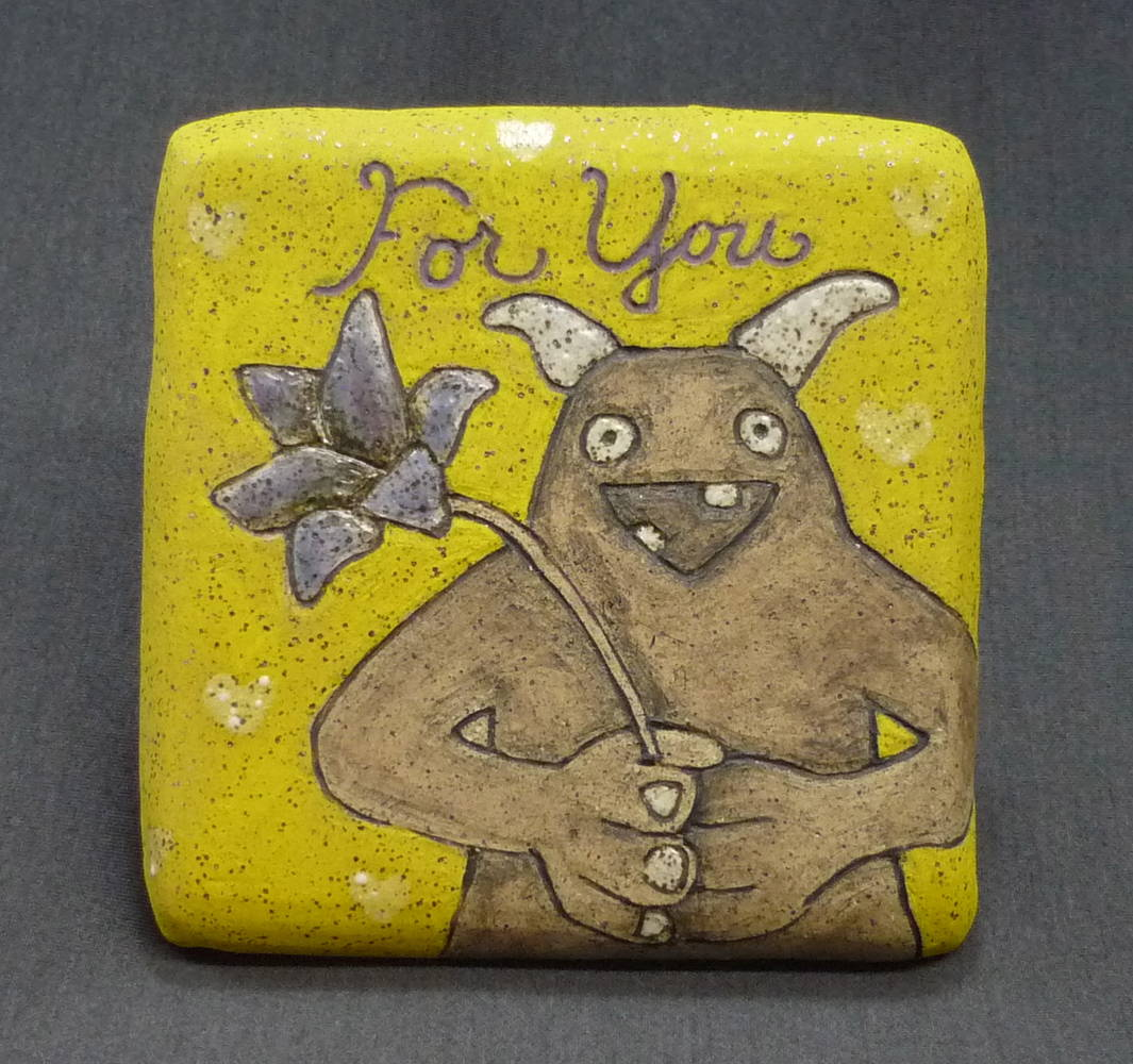 Monster Tile - For You by Leanne Schnepp