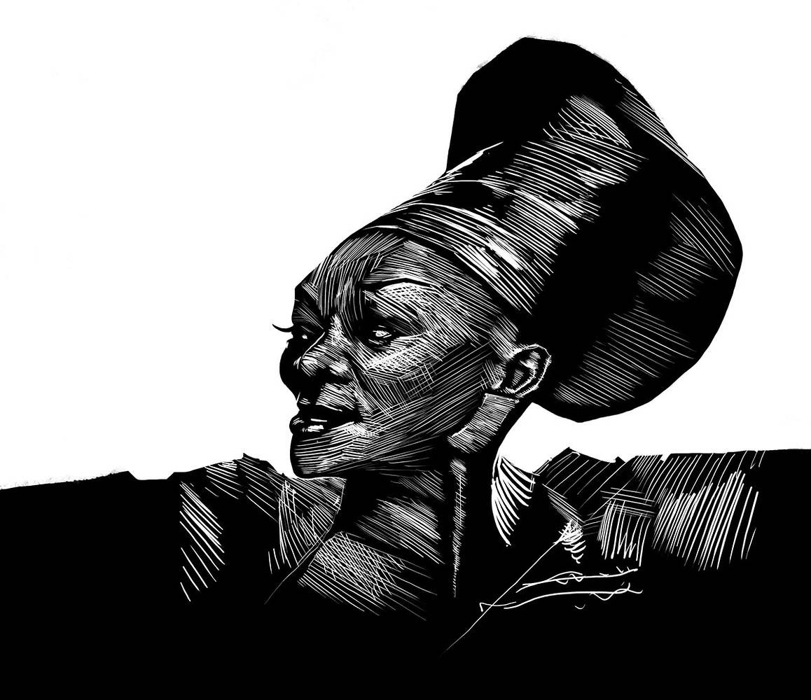 Brenda Fassie, unused design. by Hendrik Gericke