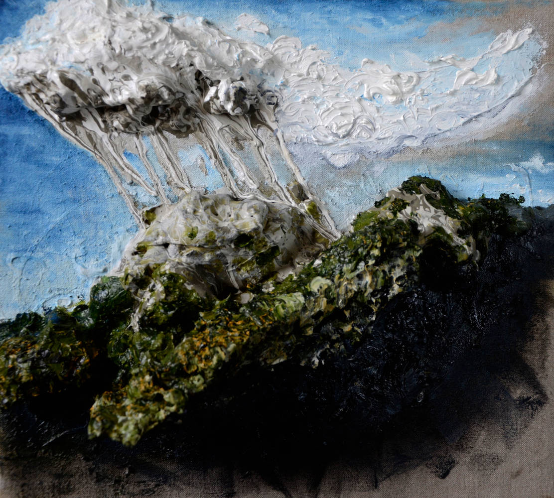 Oil painting A Paint-Cloud Returns to its Source by Adrian Molina