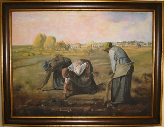Oil painting The Gleaners  by Valerie Buttler