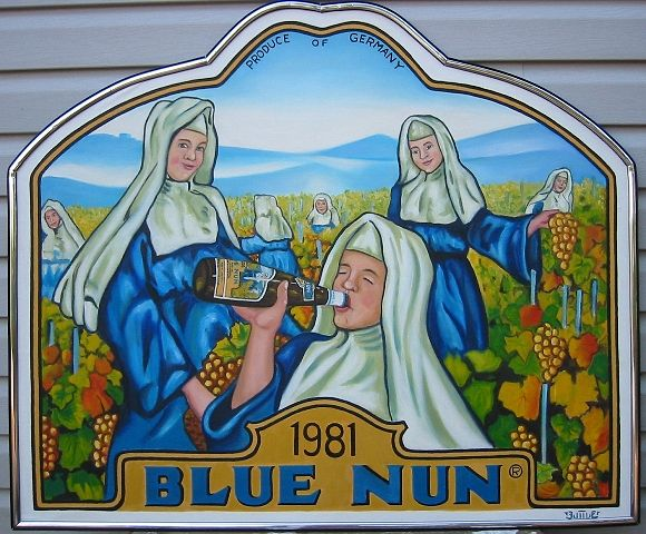Oil painting Blue Nun by Valerie Buttler