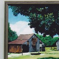 Oil painting South Carolina Horse Farm by Ron Buttler