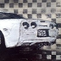 Acrylic painting Corvette by Carly Jaye Smith