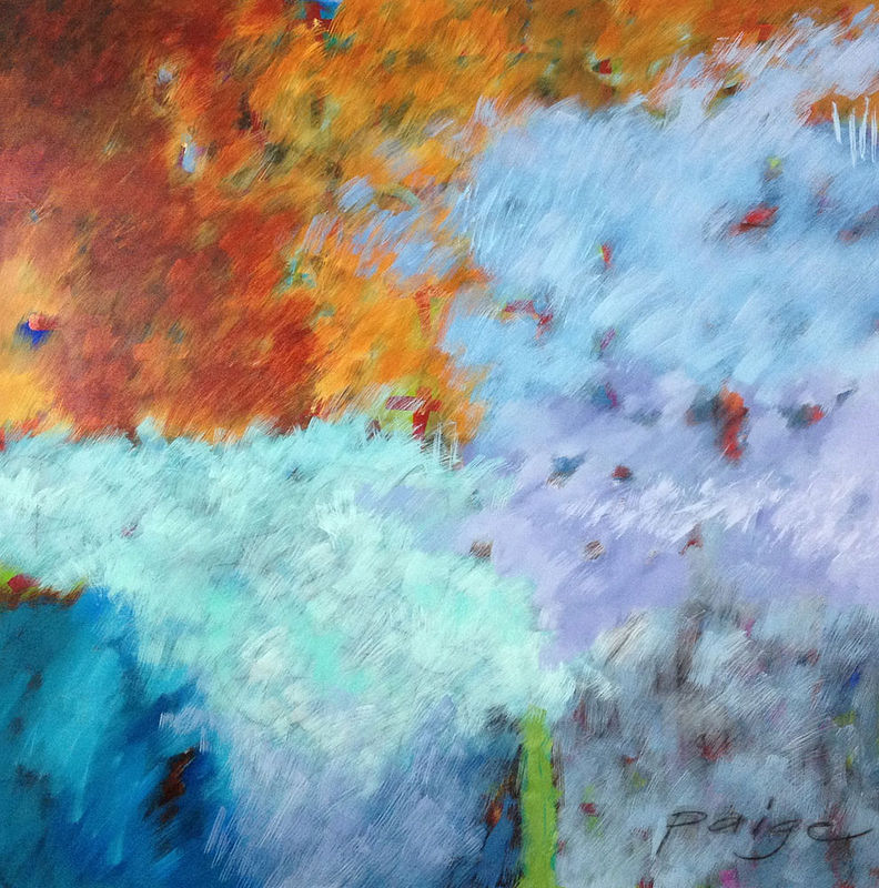 Acrylic painting Addison Paige #41 In the Path of the Wind by Addison Paige