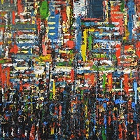 Acrylic painting Urban Rhythms #16  by David Tycho