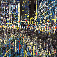 Acrylic painting Urban Rhapsody #8 by David Tycho