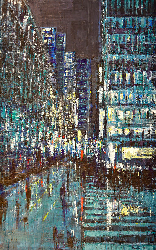 Acrylic painting Urban Rhapsody No. 9 by David Tycho