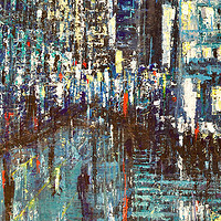 Acrylic painting Urban Rhapsody #9 by David Tycho
