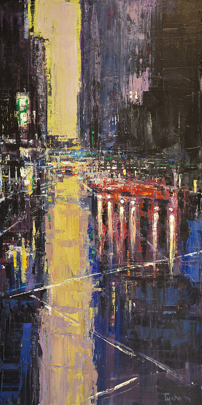 Acrylic painting Urban Rhapsody No. 11 by David Tycho