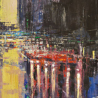 Acrylic painting Urban Rhapsody #11 by David Tycho