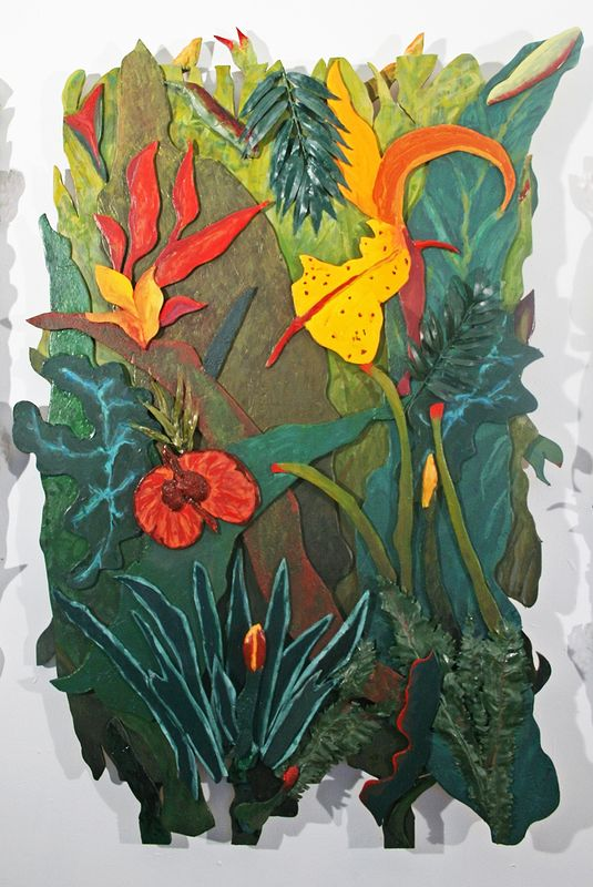 Jungle Fever Triptych Center Panel by Gary Eleinko