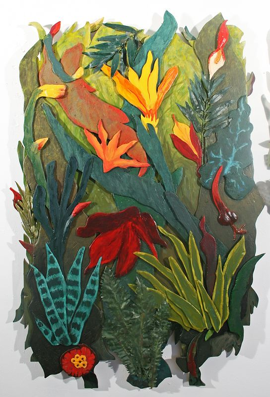 Jungle Fever Triptych Left Panel by Gary Eleinko