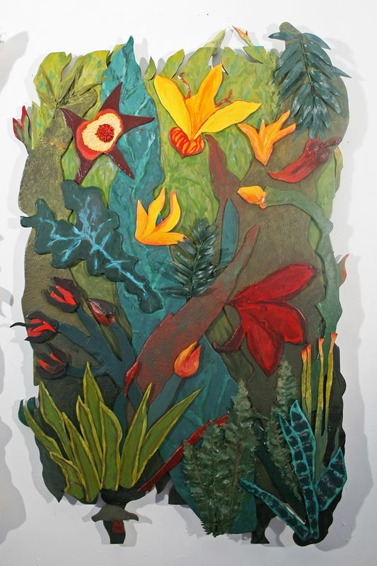 Jungle Fever Triptych Right Panel by Gary Eleinko