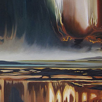 Oil painting Divided by Robert Porazinski