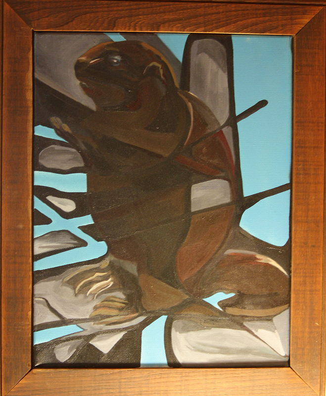Oil painting Beaver by Sharon  Hunter