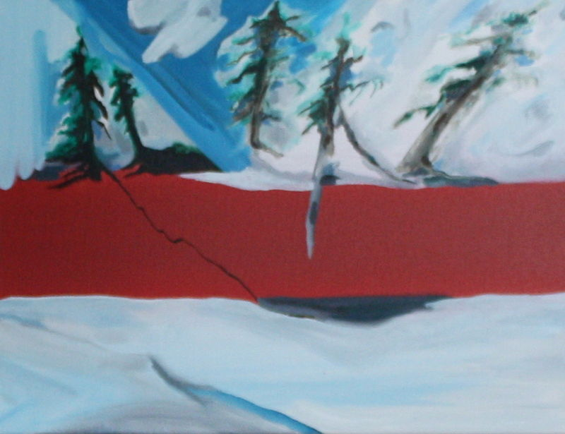 Oil painting North Winter by Sharon  Hunter